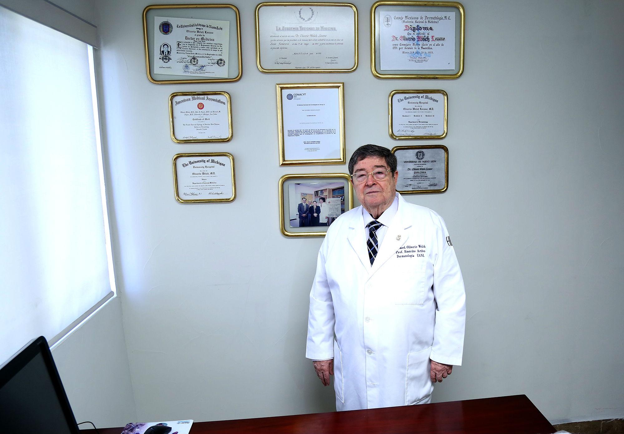 Oliverio Welsh Lozano, pilar de la dermatología en México