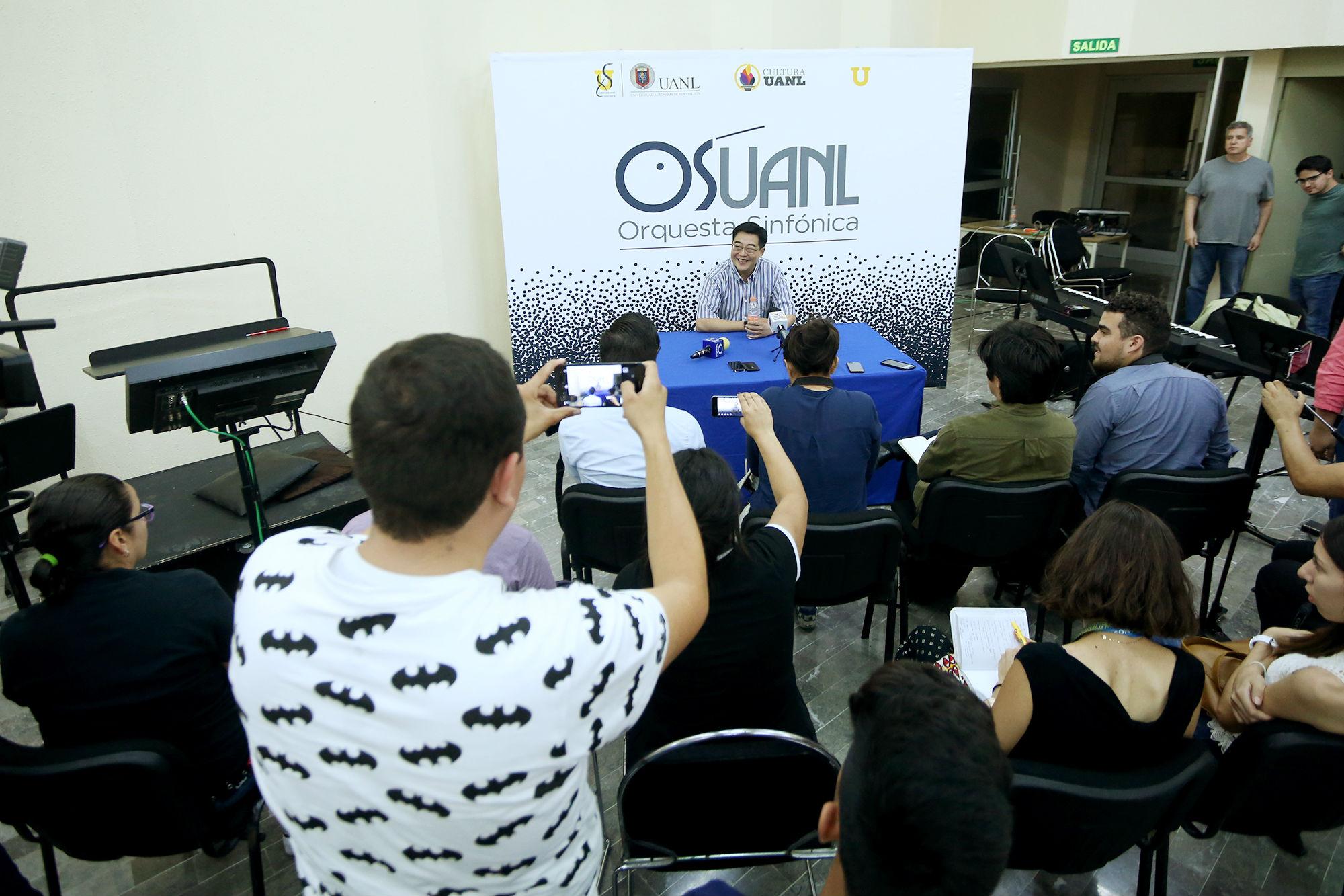 Rueda de prensa para el concierto de la OSUANL con los temas de la película de Harry Potter y el Prisionero de Azkaban