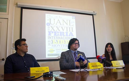 Rueda de prensa para dar a conocer las actividades de la UANL en la Feria Internacional del Libro de Monterrey 2018