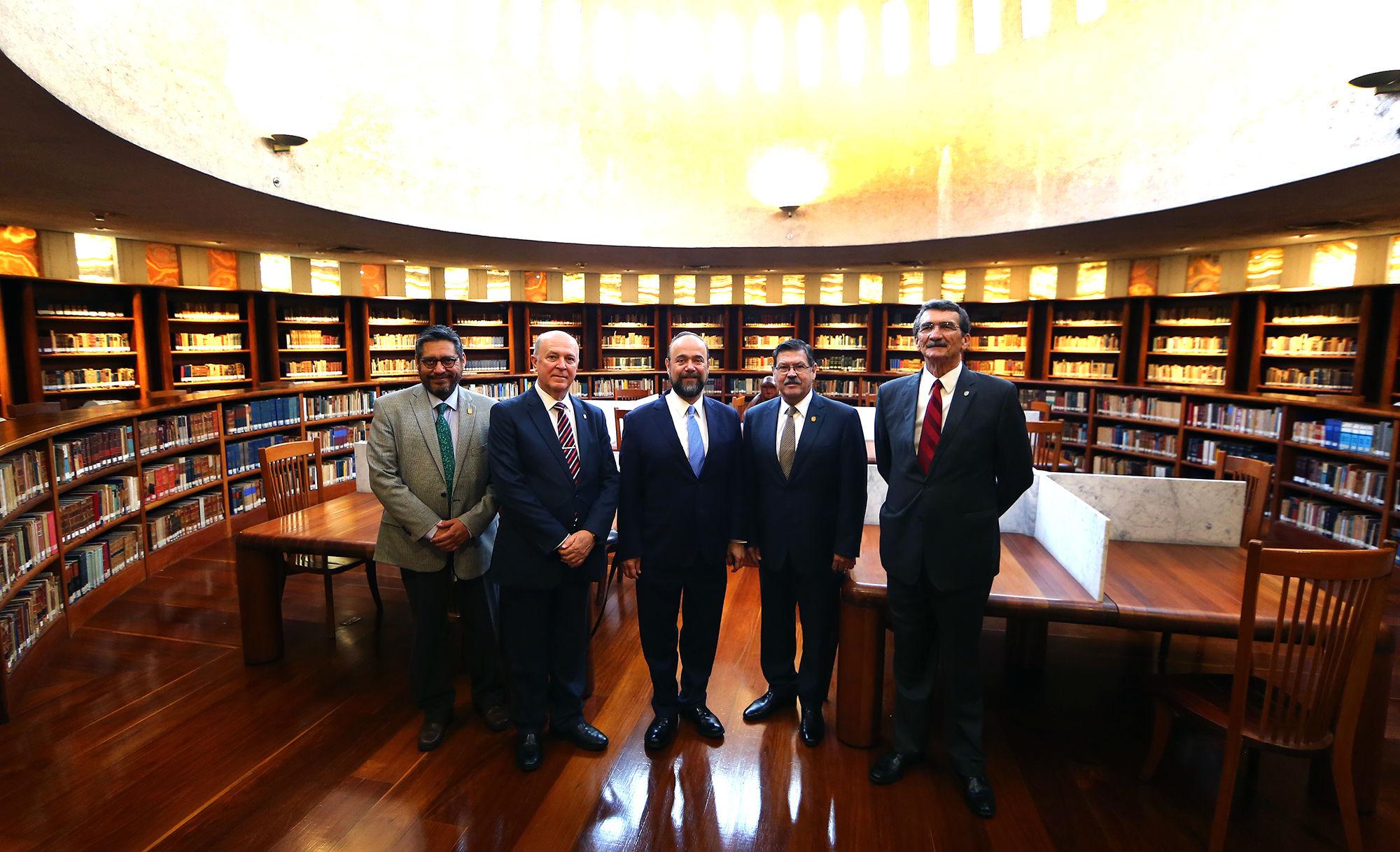Los rectores visitaron la Sala de Asuntos Políticos