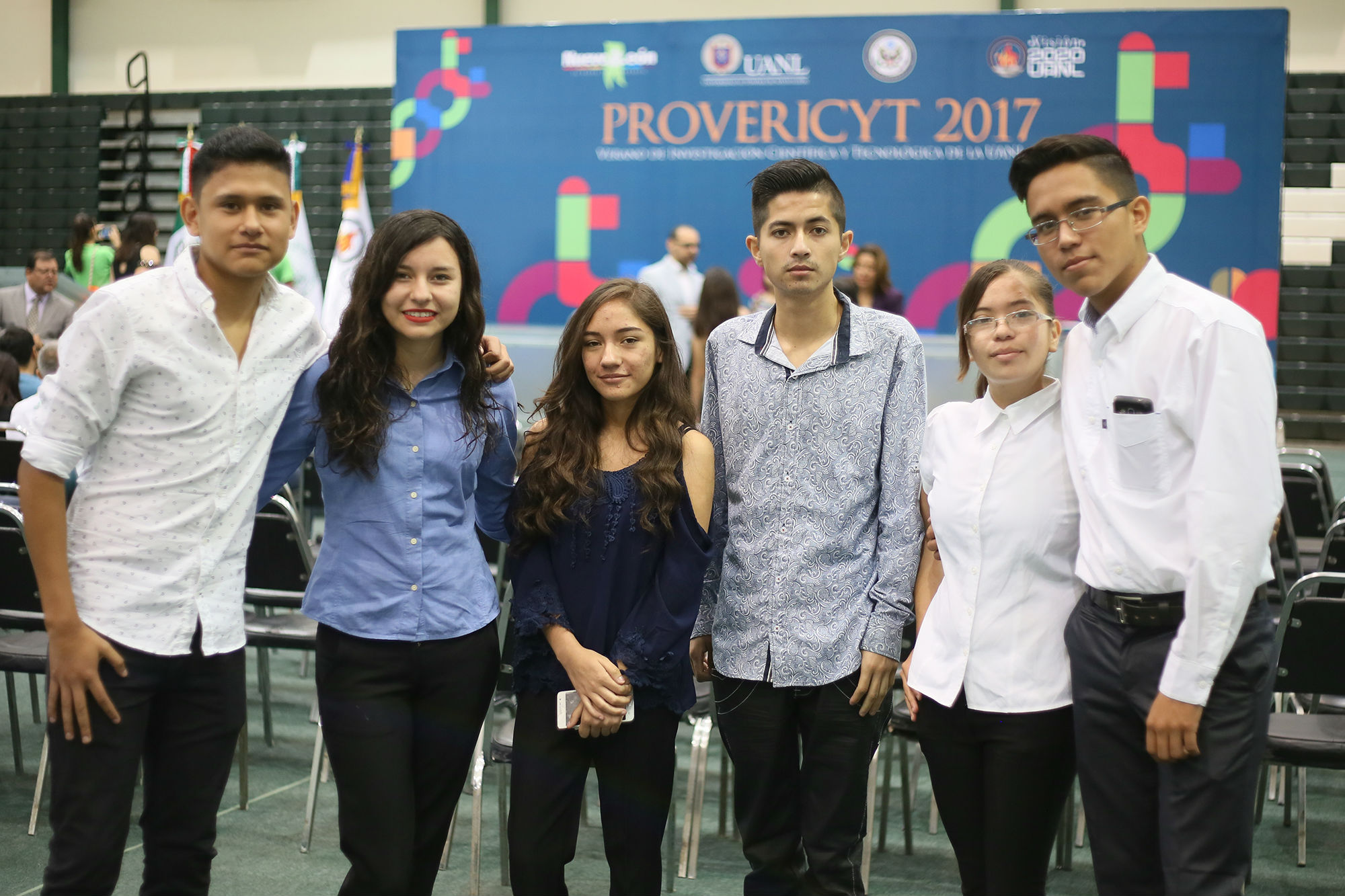 Estudiantes de la Preparatoria 4 de la UANL