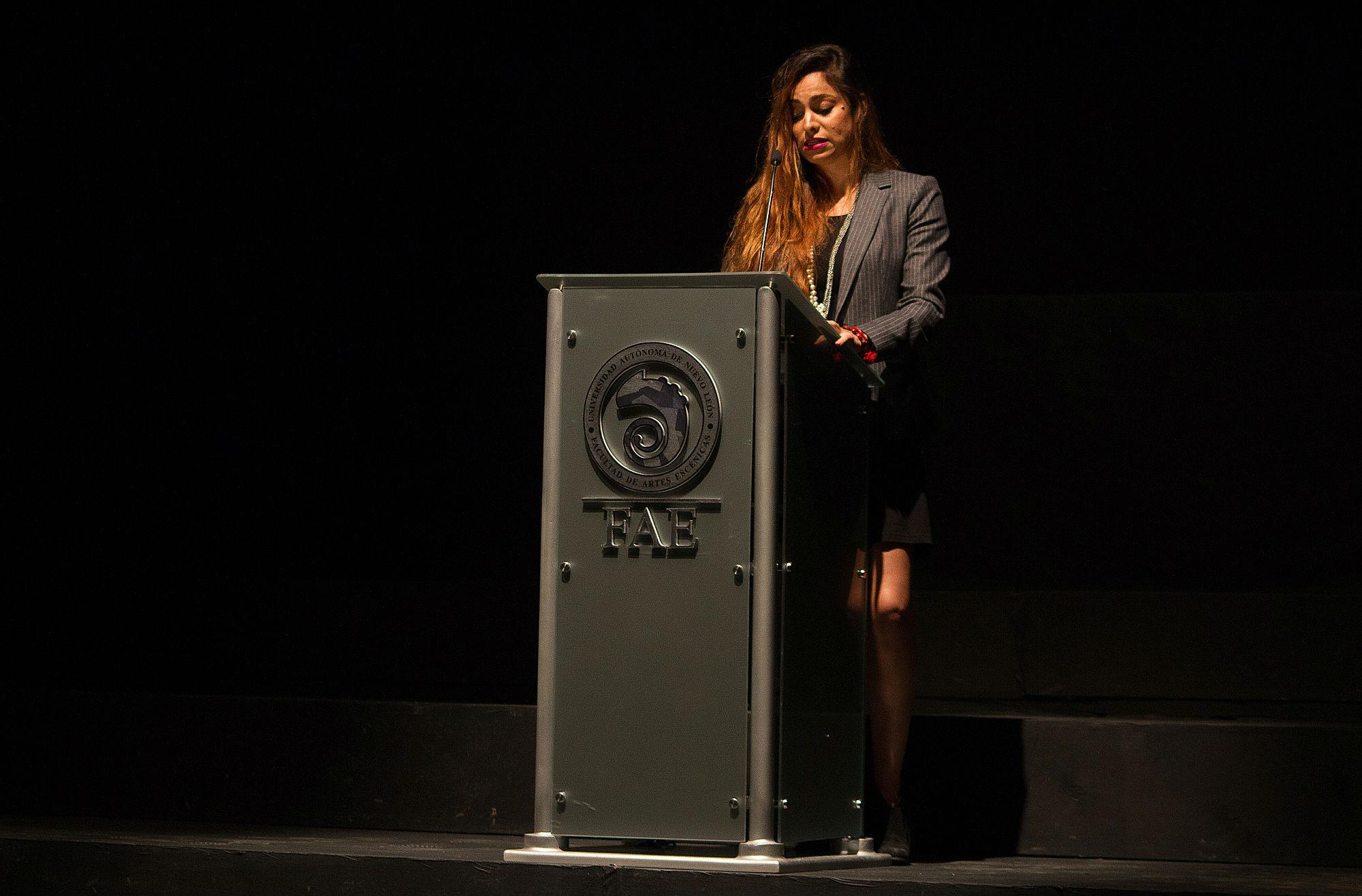 Olivia Janneth Villarreal Arizpe, Directora de la Facultad de Artes Escénicas