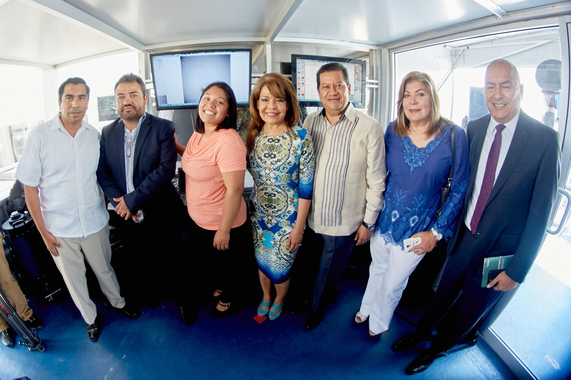 Los legisladores visitaron el Observatorio Internacional de Monitoreo de Basura Espacial