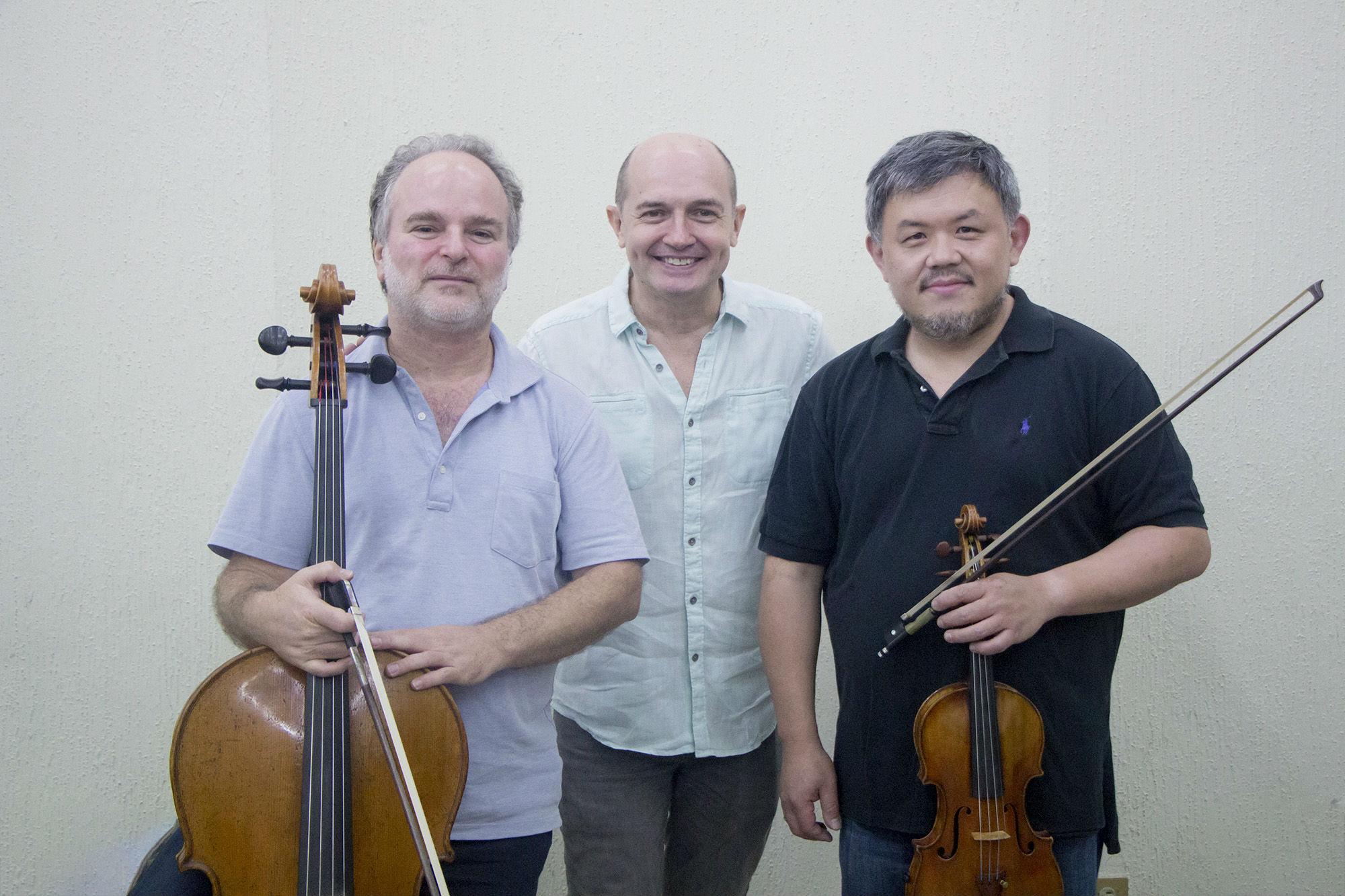 Zvi Plesser, Jesús Medina y Xiao Dong-Wang