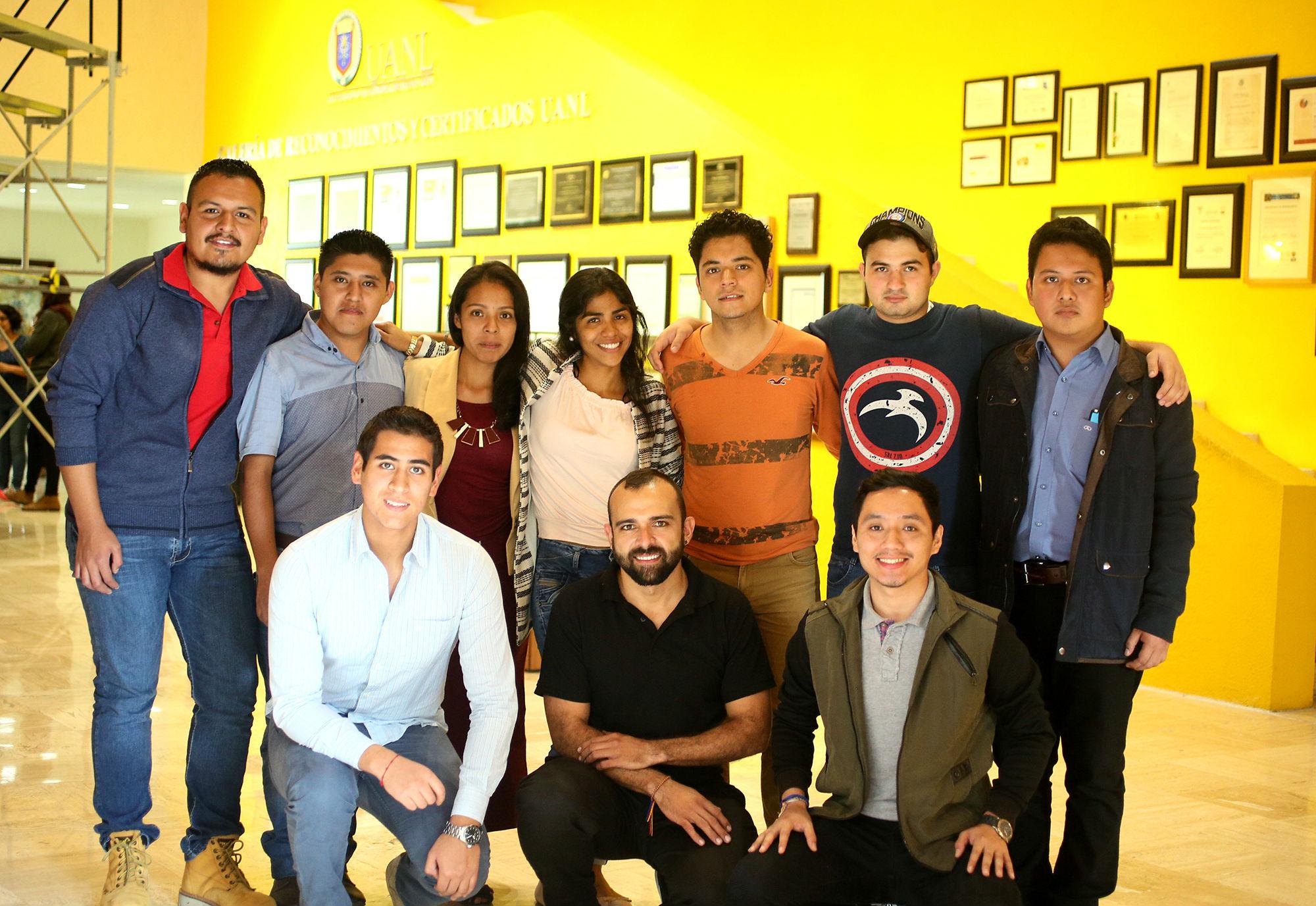 Estudiantes que harán intercambio en la Facultad de Contaduría Pública y Administración