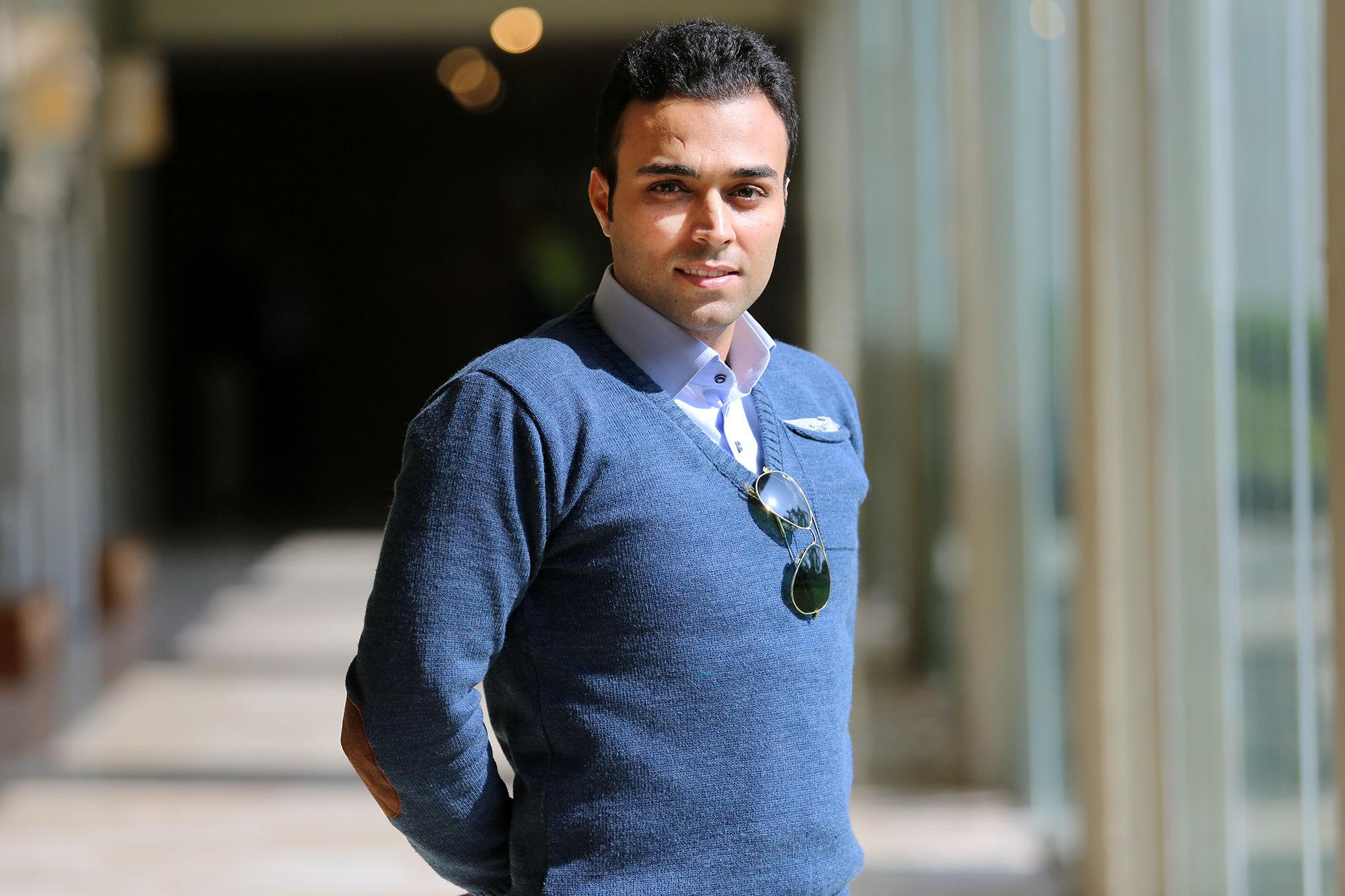 El estudiante procedente de Irán está emocionado por iniciar las clases