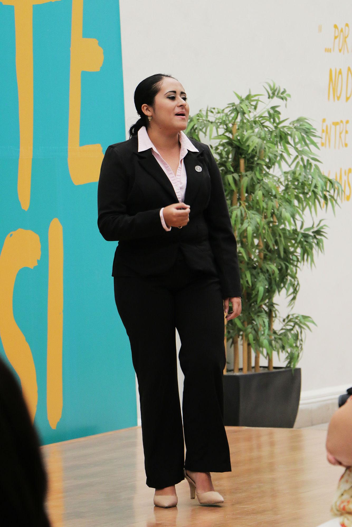 Briana Guadalupe Bosques, primer lugar nivel facultades