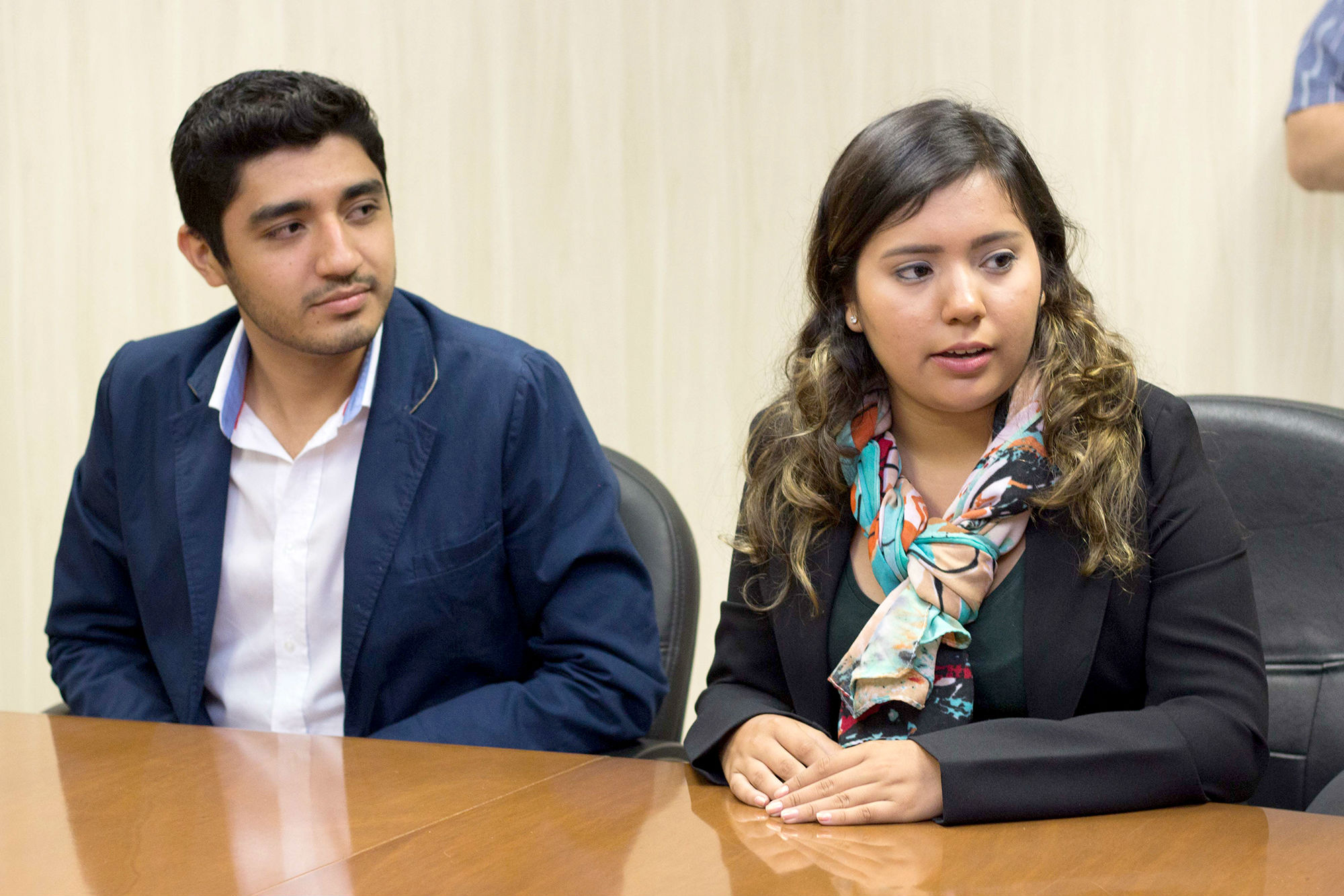 En la reunión previa a su intercambio académico