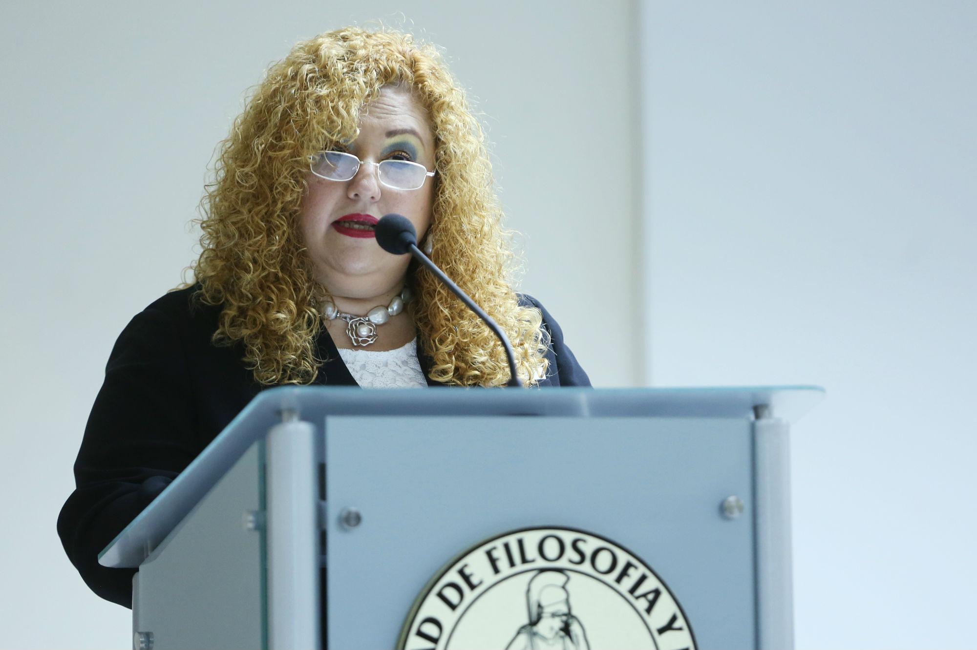 Ludivina Cantú Ortiz, directora de la Facultad de Filosofía y Letras