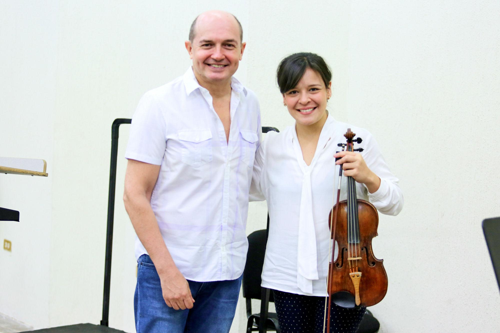 Jesús Medina y Angélica Olivo