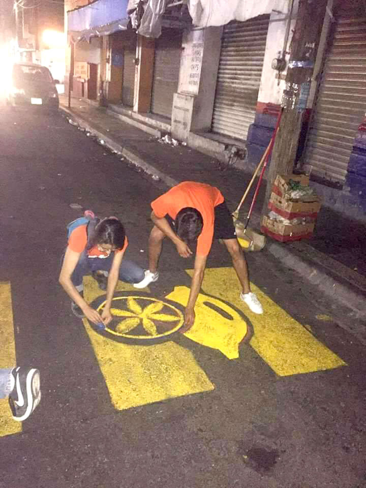Pintando el paso peatonal