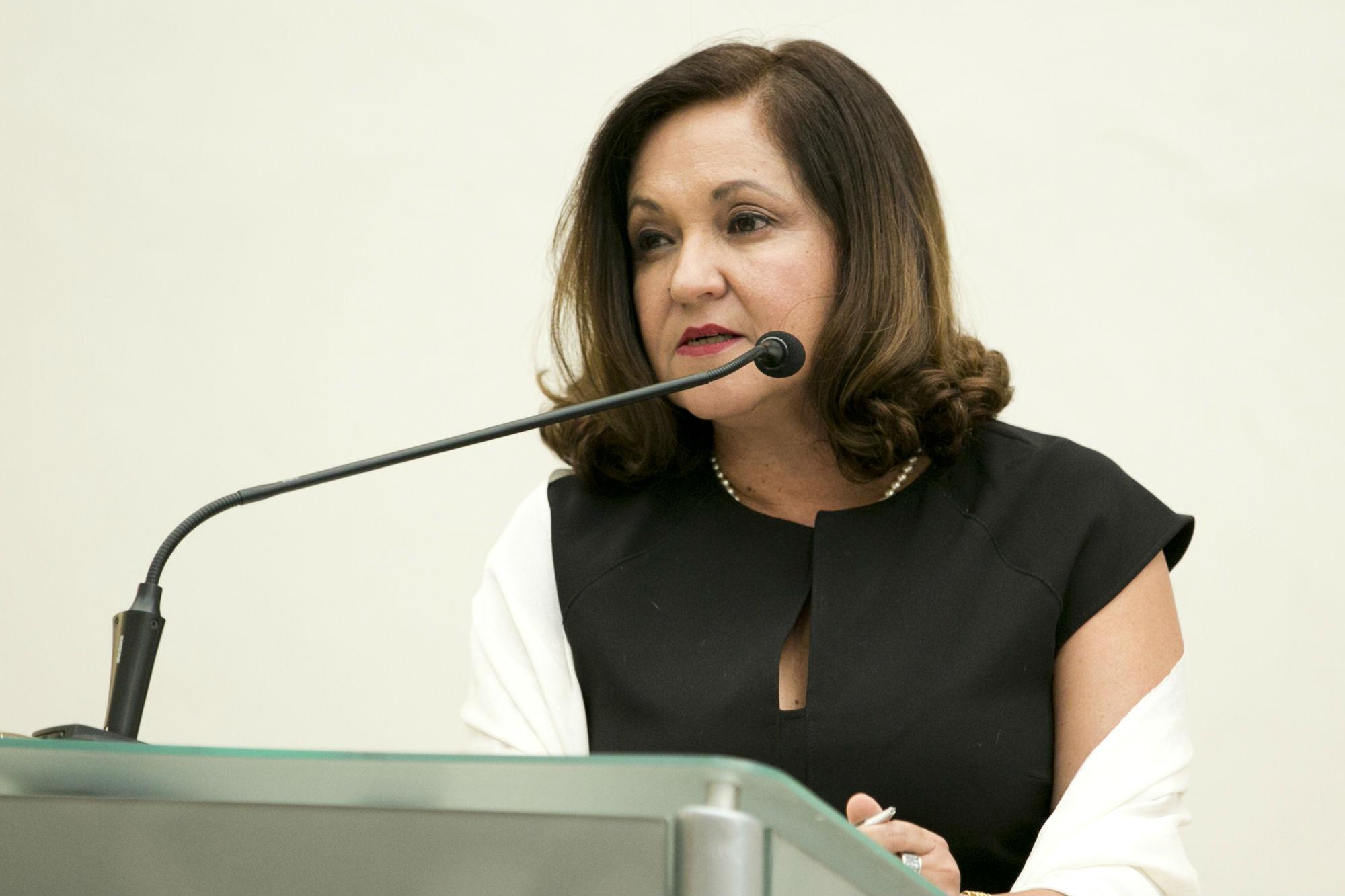 La periodista Sanjuana Martínez dio un mensaje