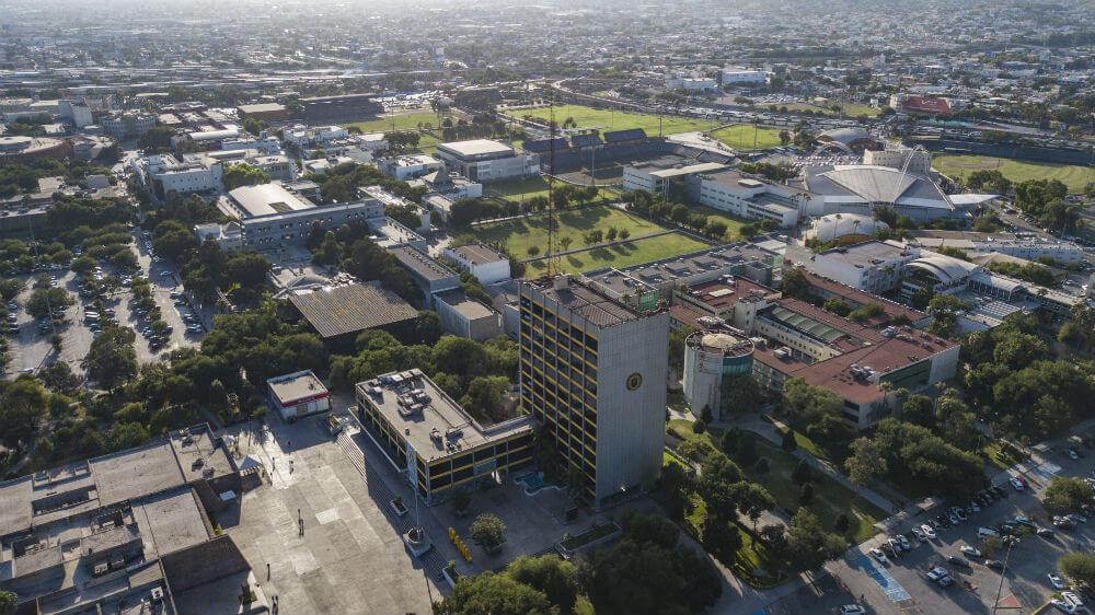 Campus CU UANL vista aérea