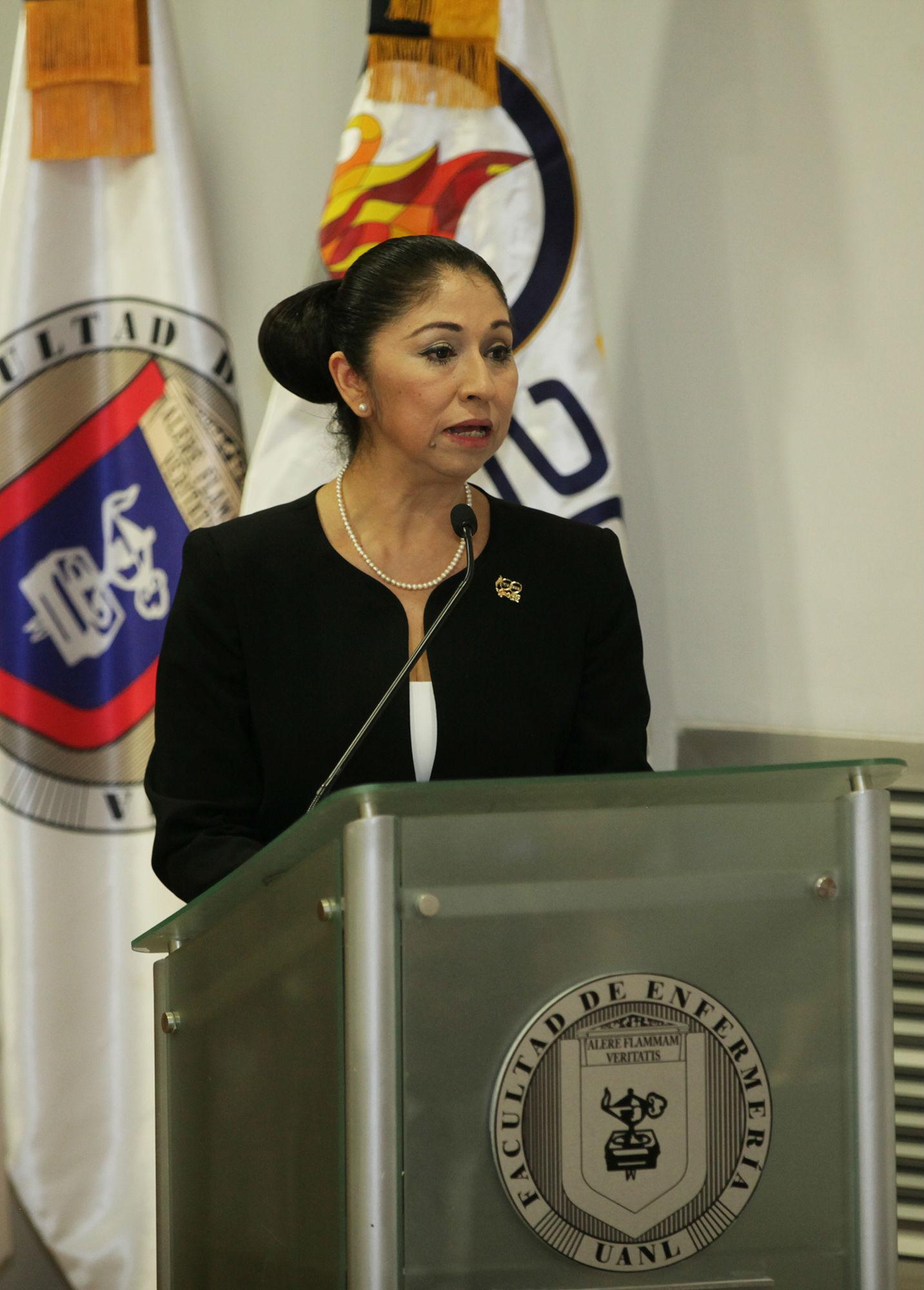 Mensaje de la directora de la Facultad de Enfermería, María Diana Ruvalcaba Rodríguez