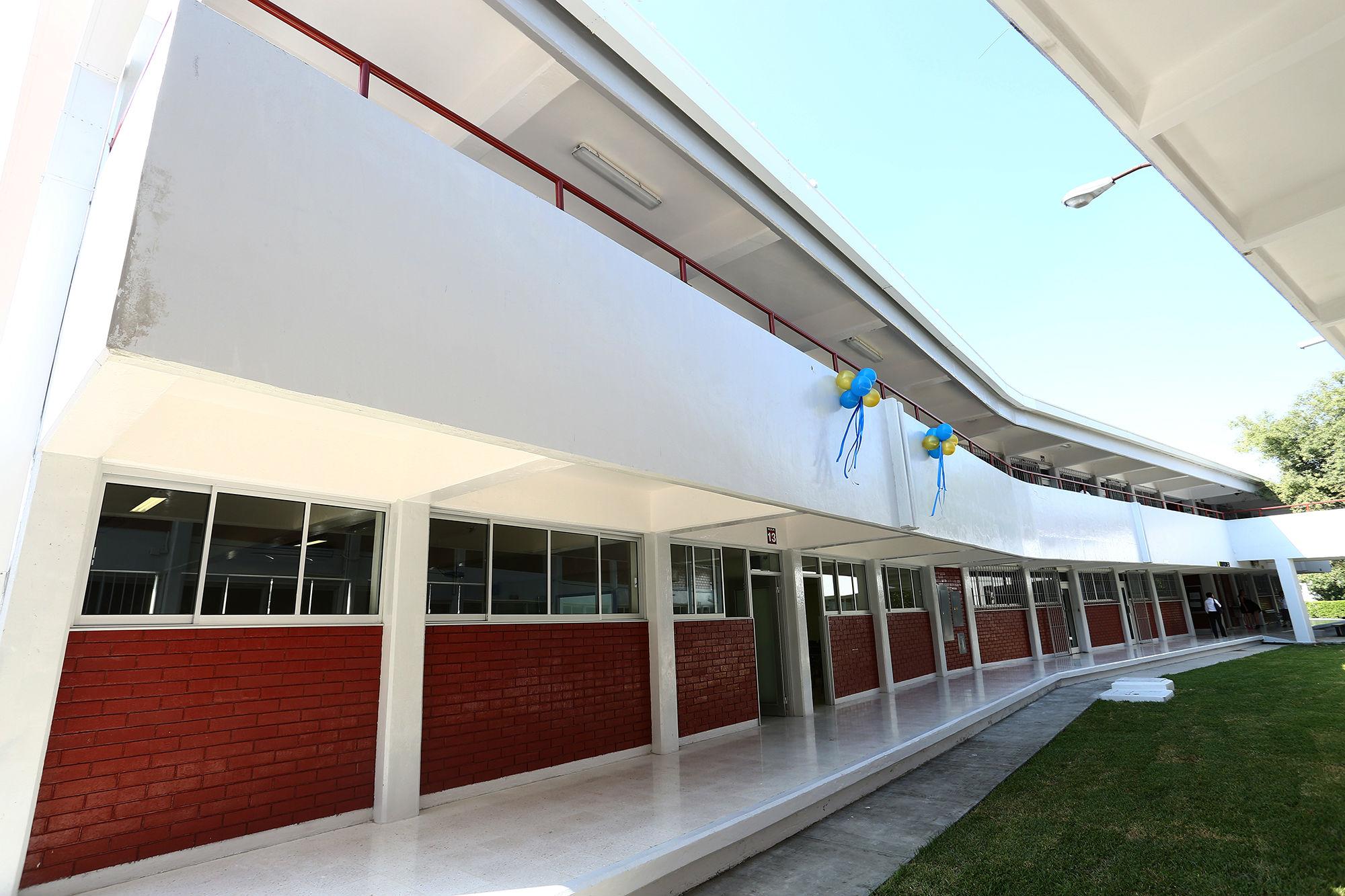 Edificio en donde se ubican las cuatro nuevas aulas de la institución