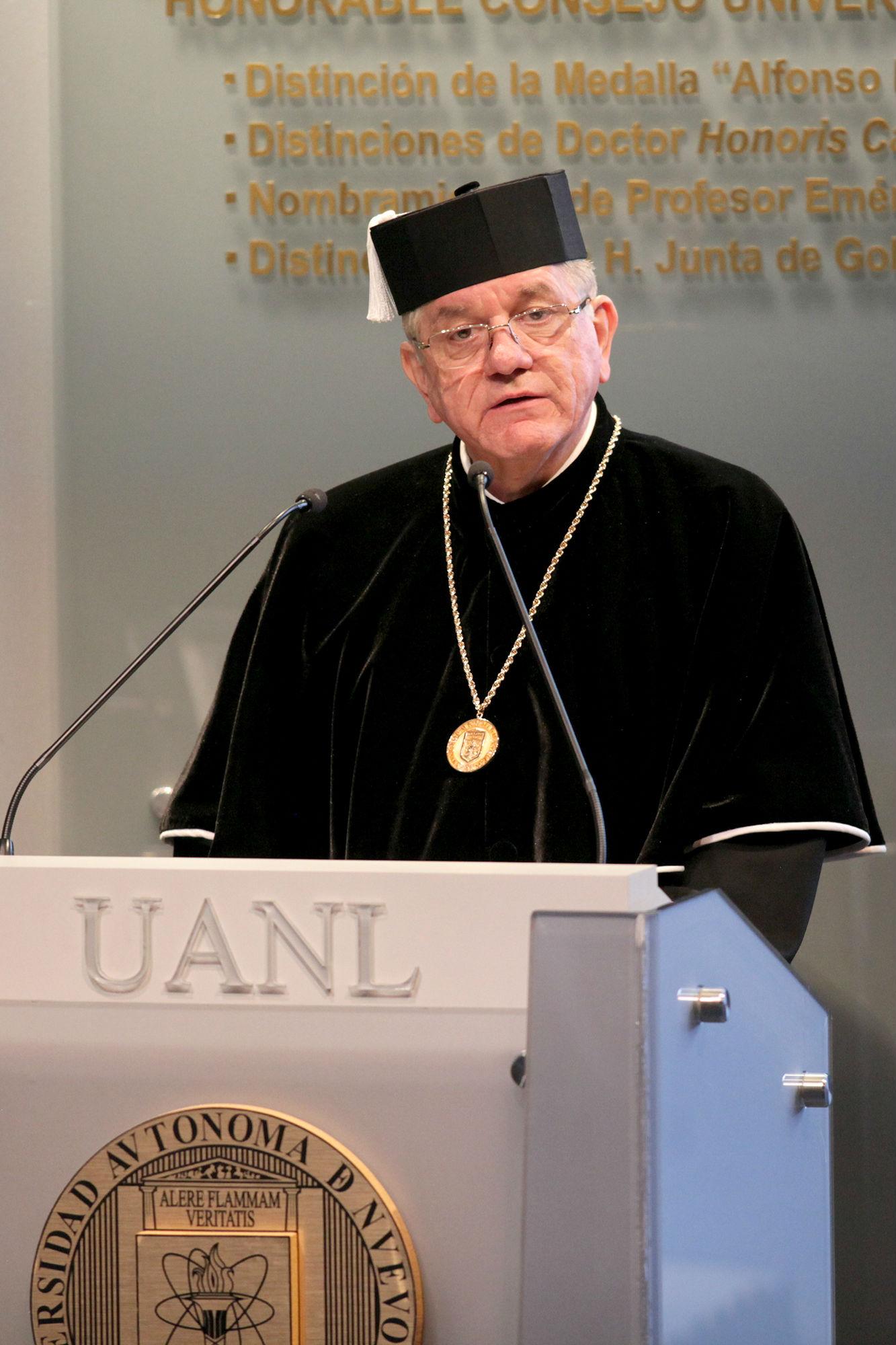 Mensaje del rector de la UANL, Jesús Ancer Rodríguez