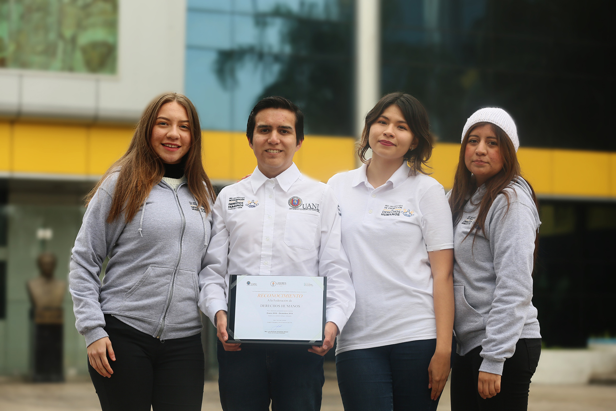 Estudiantes de la UANL promueven derechos humanos