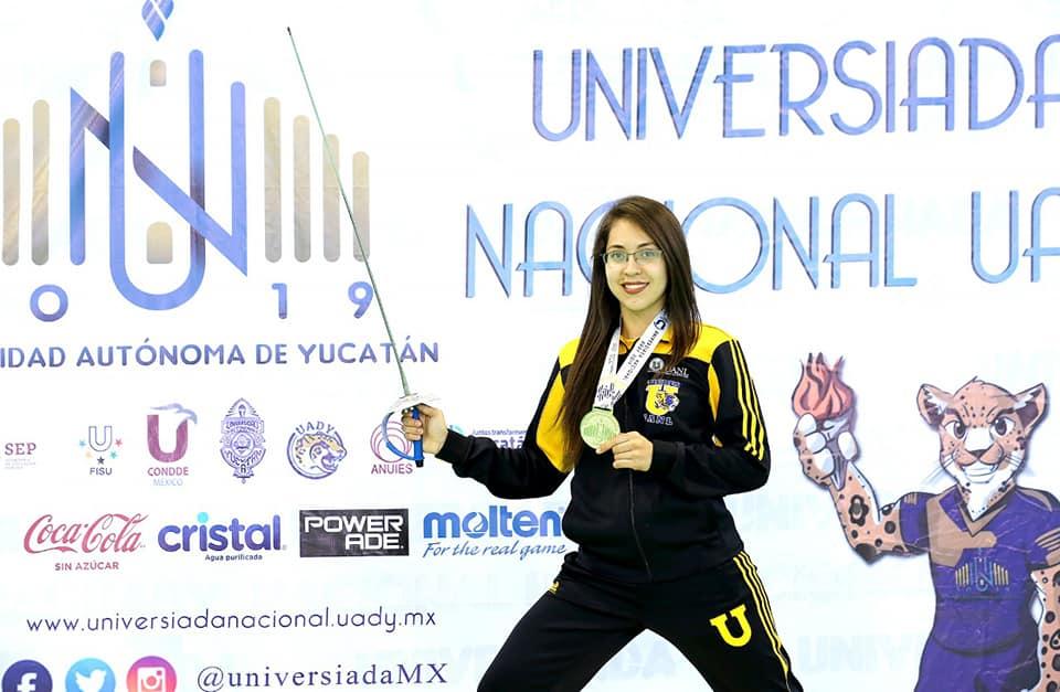 Vanessa Infante de Esgrima a Universiada Mundial 2019