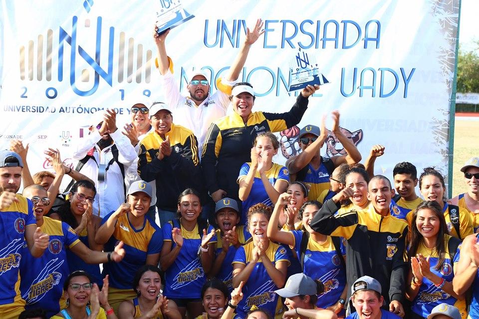 Campeones en Atletismo de Universiada Nacional 2019
