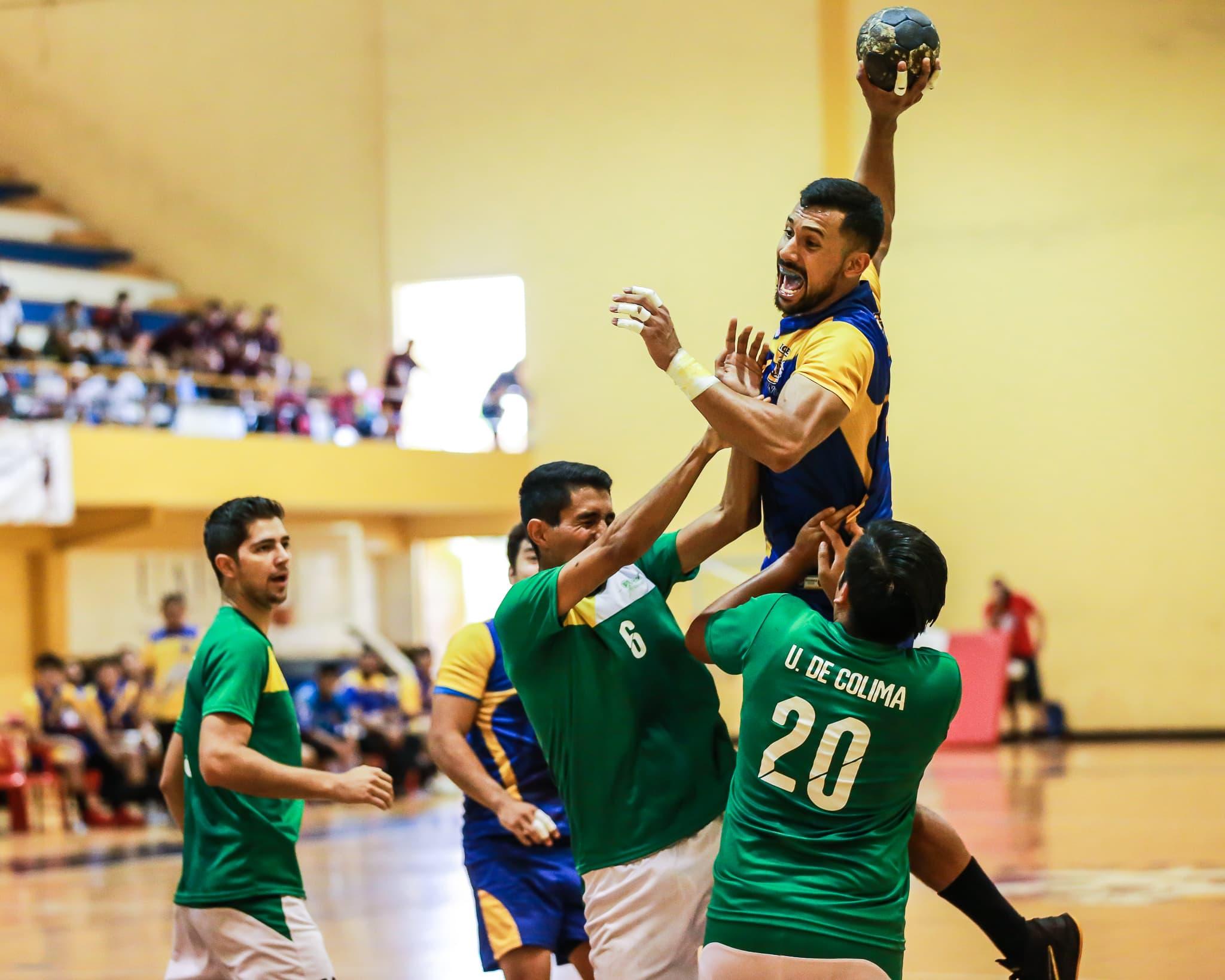 Tigres handball varonil venció al Universidad de Colima