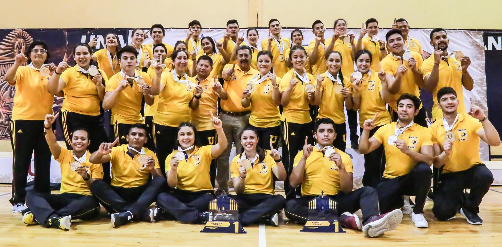 Handball femenil y varonil campeones de Universiada Nacional 2019