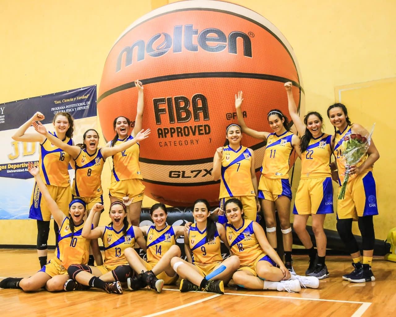 Tigres femenil de Basquetbol es bronce en la Universiada Nacional 2019