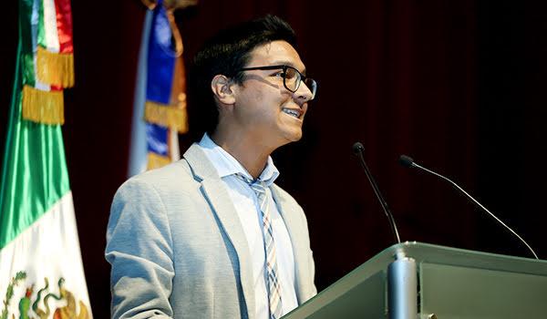 Ian Marcelo Cavazos, estudiante de la Facultad de Ciencias de la Comunicación, contó de su experiencia en España