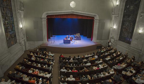 El concierto se realizó en el Aula Magna de Colegio Civil Centro Cultural Universitario