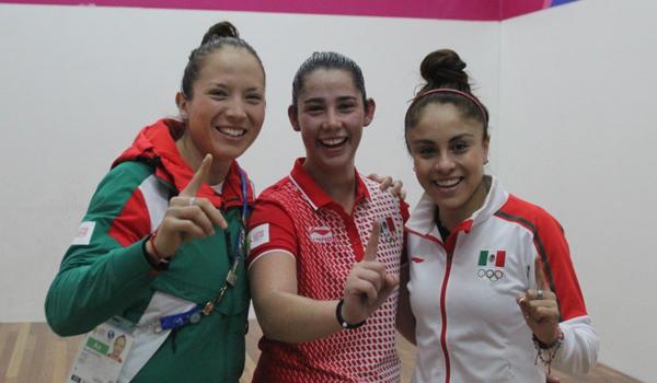 La raquetbolista Paola Longoria (derecha)es la atleta mexicana con más títulos en Juegos Panamericanos