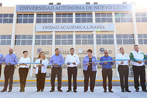 Ribbon cutting ceremony at Linares Campus