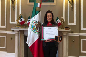 Elena Rodriguez Falcon, Mexican of the year in the UK.