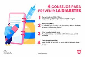 En el #DíaMundialDeLaDiabetes, te compartimos 4 #ConsejosUANL para prevenir esta enfermedad.