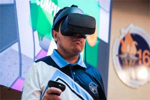 Medical Staff is trained with virtual reality in COVID areas.